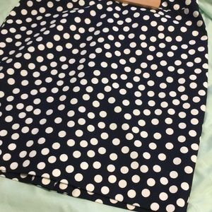 Polka dot lined skirt new without tags